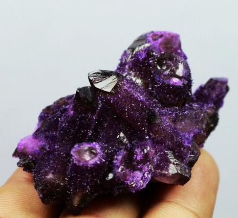 RARE! nuovo Cerca Naturale Bella Ametista Cristallo Di Quarzo Cluster Specimen