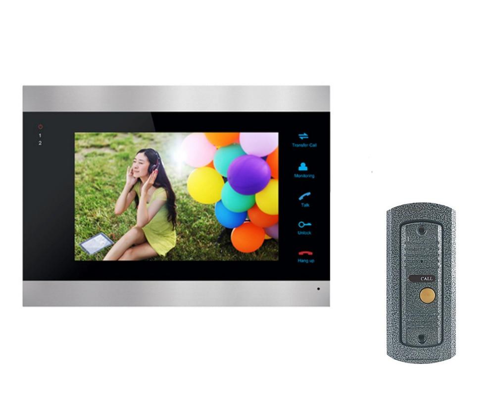 Homefong 7 pouces couleur LCD vidéo porte téléphone interphone système déverrouillage de la porte couleur sonnette caméra 600TVL Vision nocturne - 2