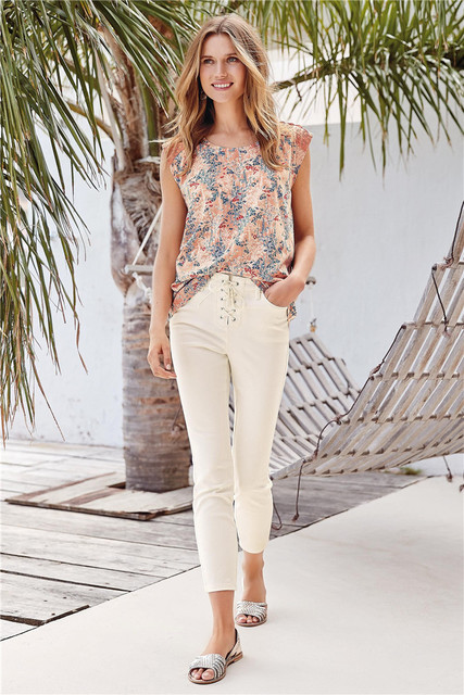 b407ed8fe Women spring and summer fashion slim water wash casual skinny jeans female  trendy plus size pencil style denim cotton pants