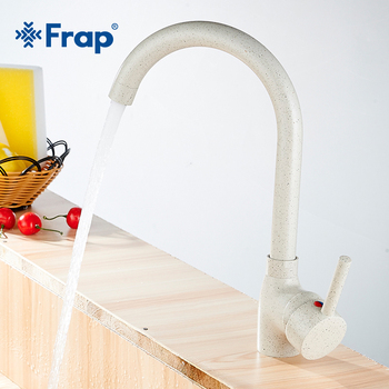 Frap Newly Copper Kitchen Faucet Single Handle Single Hole Mixers Sink Tap Wall Brushed Faucet Hot and Cold Water Y40092-3