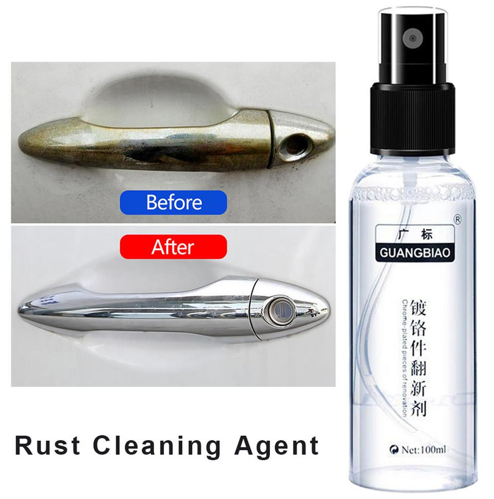 100mL Anti-rust Paint Rust Cleaning Agent For Auto Houseware And Car LOGO Metal Handle Metal Chrome Car Clean Maintenance Tools