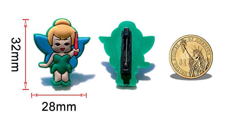 1 Pcs PVC Ikon Kartun Indah Putri Bros Pin Lencana Anime Figure Inside Out Pin Lencana Ransel Pakaian Topi dekorasi