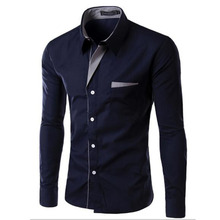 2017 Hot Sale Men Fashion Long Sleeve High Quality Multicolor Shirts,Teenagers Casual Slim Fit Outdoors Shirts Plus Size S-4XL