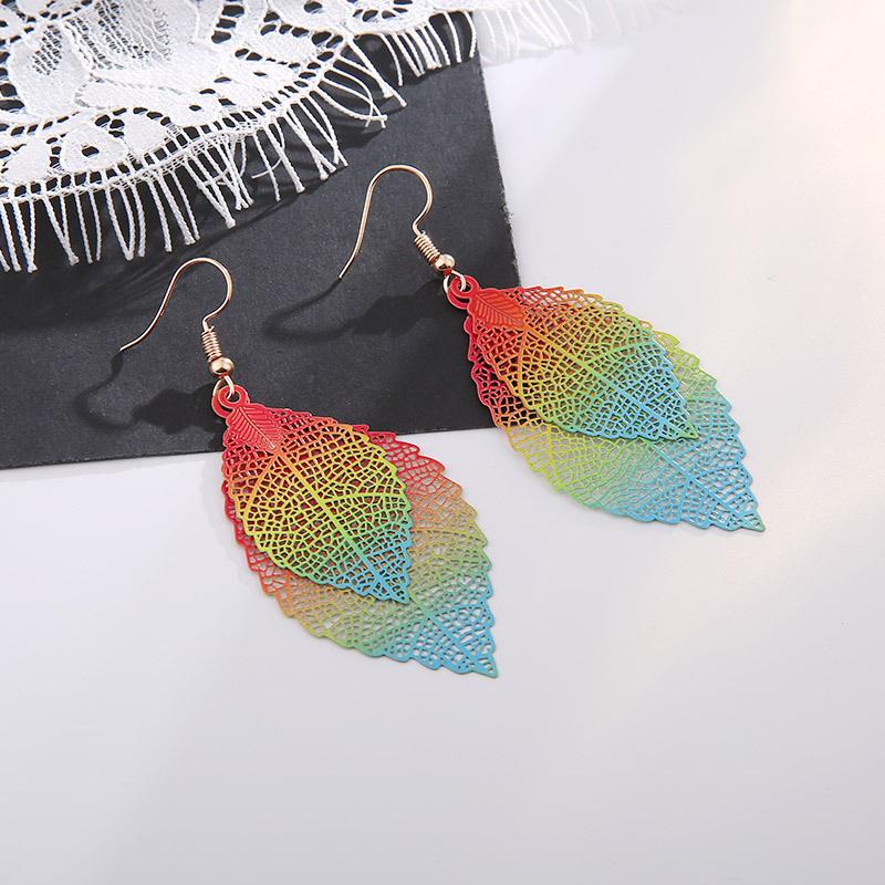 Fashion Ladies Classic Earrings Banquet Wedding Accessories Pendant Simple Creative Leaves Jewelry