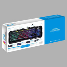Mechanical Feel G700 LED Rainbow Color Backlight Gaming USB Receiver Wired Keyboard 20A Drop Shipping