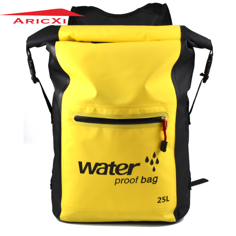 Aricxi 25L 500D PVC Tarp Trekking Drifting Seal Rafting Bag Double Straps Ocean Pack Waterproof Bag Dry Bag Outdoor