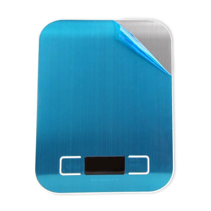 Серебряный цифровые весы 5 кг/10 кг/1g шкала веса Нержавеющаясталь весы Электронные измерительные инструменты светодиодный Дисплей Кухня весы-2