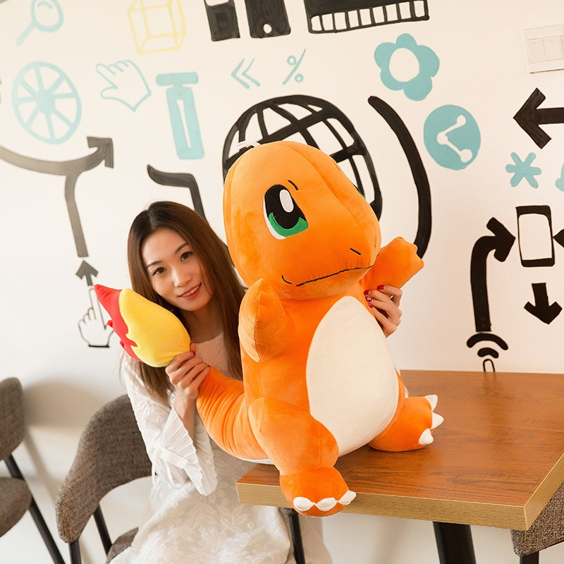 stuffed plush toy movie cartoon figure large 50cm orange Charmander doll soft throw pillow home decoration