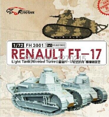 Flyhawk FH3001 1/72 RENAULT FT-17 Light Tank Riveted Turret riveted