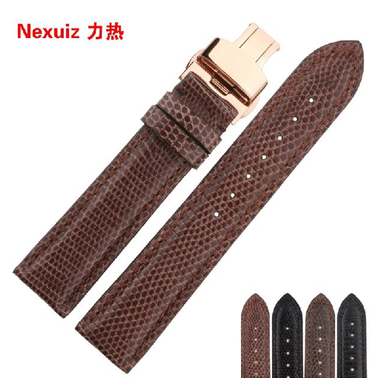 18|19|20|21|22mm Watchbands Brown Lizards leather genuine leather Watchband straps bracelets for special fashion Watches 20mm buckle 16mm black brown high quality alligator leather watchband waterproof straps bracelets for brand luxury men watches