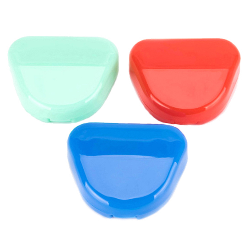 1pc Plastic Denture Storage Box Case Dental False Teeth Appliance Container Storage Box Denture Storage Case 8cm*6.6cm*2.7cm
