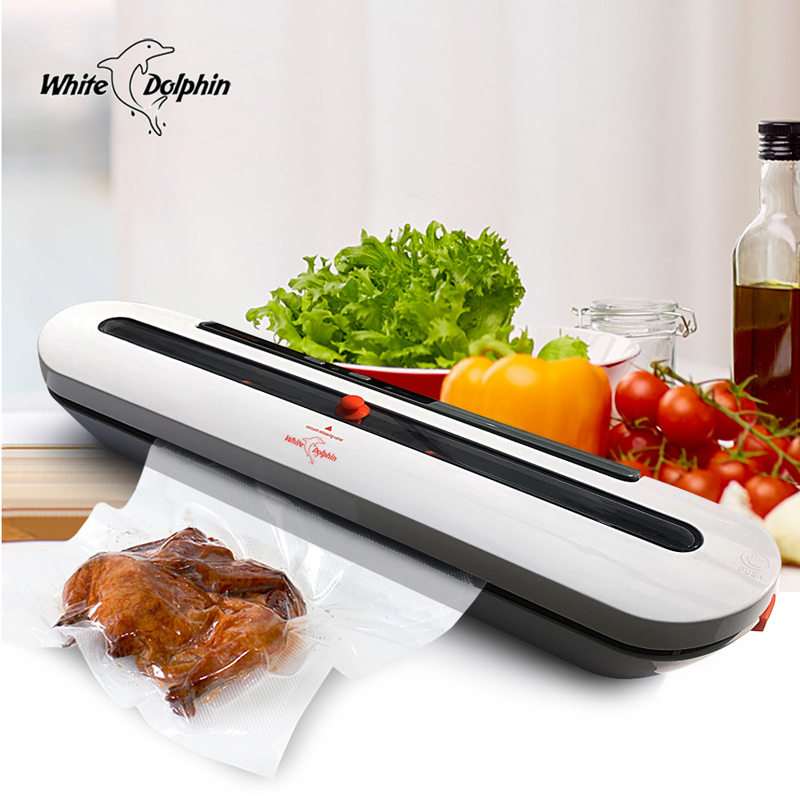 Household Food Vacuum Sealer Packaging Machine With 10pcs Bags Free 220V 110V Automatic Commercial Best Vacuum Food Sealer Mini white dolphin vacuum food sealer 110v 220v electric household mini food vacuum sealer packaging machine with 10pcs storage bags