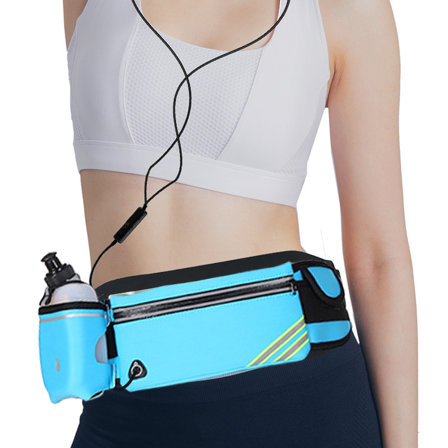 NEWBOLER Running Fanny Pack Sports Female Waist Bags For Walking Camping Gym Belt Bag Phone Holder Case Accessories Men Women