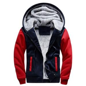 Image 4 - FOJAGANTO Brand Men Hoodies Autumn Winter Male Splice Pullover Hoodies Mens Sweatshirts Thick Section Hoodie Coat