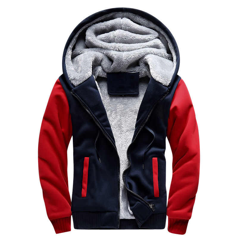 FOJAGANTO мужские толстовки с капюшоном Осень Зима Мужской пуловер мужские свитшоты толстый раздел пальто с капюшоном
