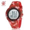 Nova ohsen digital par masculino feminino relógio de pulso pulseira de borracha vermelha data do alarme lcd 50 m à prova d' água relógios dos amantes do esporte mão relógios