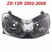 For 02-08 Kawasaki Ninja ZX12R ZX 12R Motorcycle Front Headlight Head Light Lamp Headlamp CLEAR 2002 2003 2004 2005 2006 2007