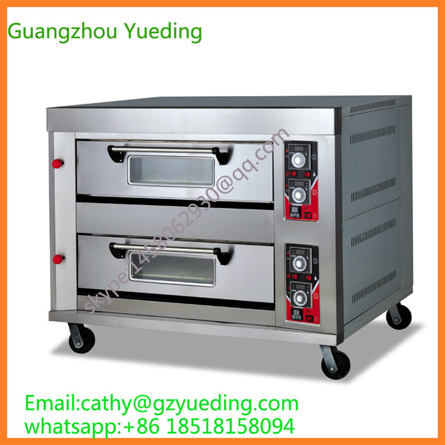 Stainless Steel Bakery Oven 2 Decks Gas Automatic Electric Bread
