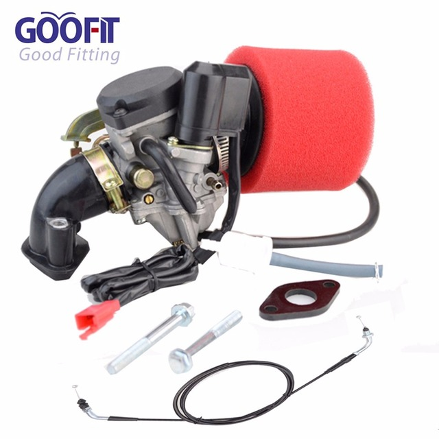 GOOFIT Carburetor Air Filter Intake Maniold Throttle Cable for GY6 50cc  Scooter Go Karts Moped P038 436-in Carburetor from Automobiles &  Motorcycles