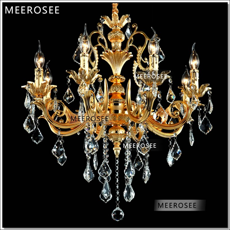 European Gold Chandelier Lighting Crystal Light Fixture Traditional Hanging Lamp Lustre Home Decor Luminaria In Chandeliers From Lights