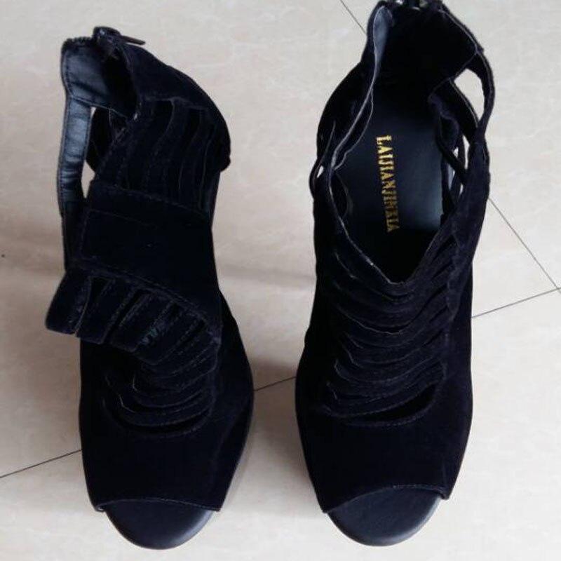 Heels Tanzschuhe weiß Bühne Nachtclub Frauen Cm Super Zeigt 20 High Schuhe Die Schwarzes Sandalen Laijianjinxia 4y6aIWcp