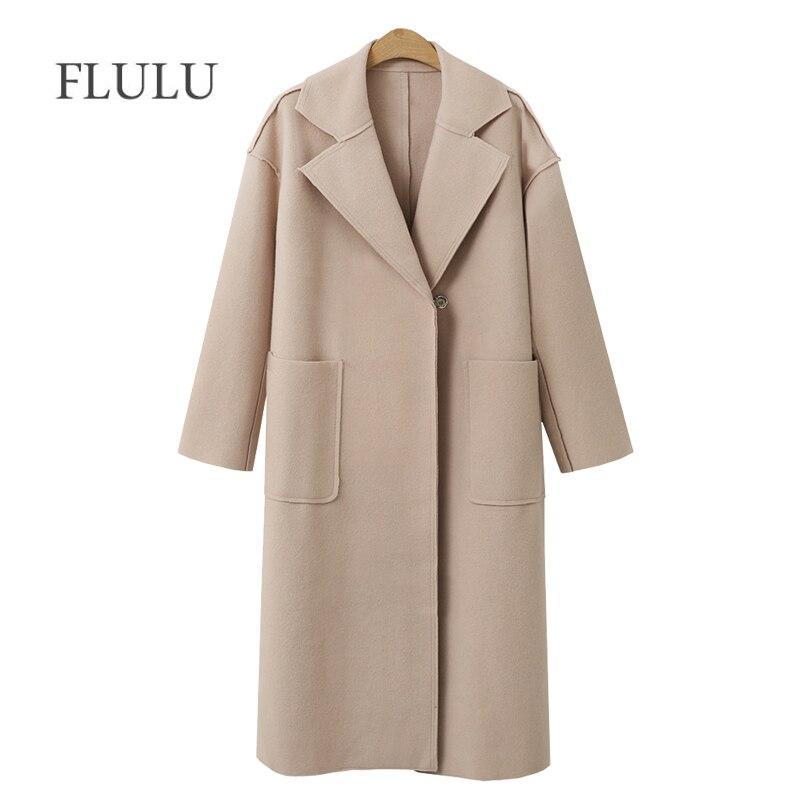FLULU Automne Hiver Costume Blazer Femmes 2018 décontracté Formelle manteau de laine Élégant Travail Bureau Dame à manches longues Blazer Mujer Survêtement
