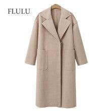 e7710a95a06da0 FLULU Herbst Winter Anzug Blazer Frauen 2018 Casual Formale Wolle Mantel  Elegante Arbeit Büro Dame Langarm