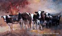 oil reproduction Black white cows by Willem Haenraets Canvas Painting Hand painted High quality