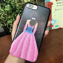 Cartoon Loverly Cute Girl Cover Soft TPU Silicone Cases For Apple iPhone 6 6S 6 Plus 7 7 Plus iphne funda Coque appel