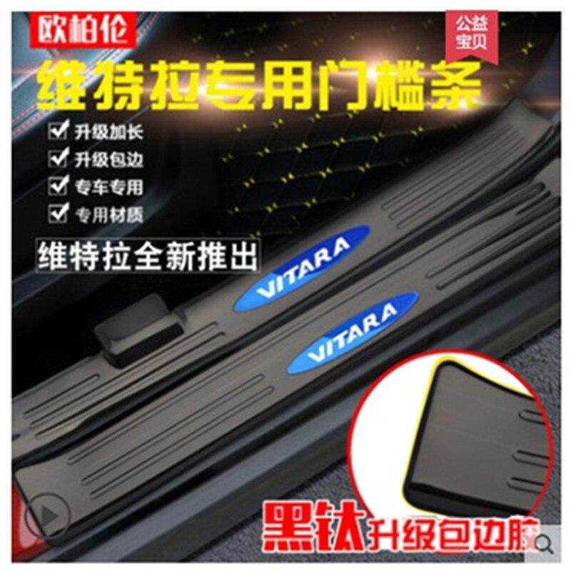 For Edge Ecosport Escape F-250 F-350 F-450 Door Sill Protector,Kick Plates Pedal Threshold Cover Carbon Fiber Sticker Anti-Scratch Anti-Slip Car Styling 4Pcs White