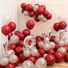 Metallic Balloons 30pcs/lot 10inch omegranate red ballons happy birthday party baloons romantic wedding supplies
