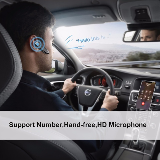 Headset Hands-free Earbud with mic case in Car for Phone Wireless Bluetooth Earphone Portable Headphones Bluetooth