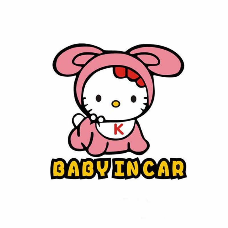 Детские на доске предупреждающие виниловые наклейки в автомобиль Стайлинг 3d для игр с кошкой, котенком аниме-наклейки Авто Хвост заднего ветрового стекла декоративная пленка