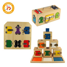 Baby Toy Montessori Material Lock Exercises Box Teaching Aids For Training Children Ability Early Education baby toy montessori material sensory teaching aids foot balance hand balance early education home children toy
