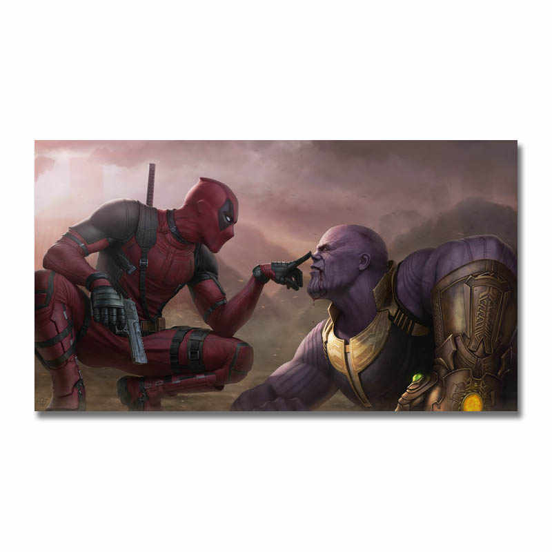 Art Silk Or Canvas Print Deadpool DC Super Hero Movie Poster 13x24 32x57 inch For Room Decor Decoration-001