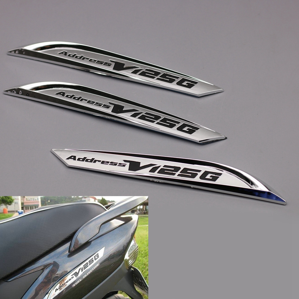 Motorcycle 3D Chrome Emblem Badge Decal Body <font><b>Stickers</b></font> For <font><b>Suzuki</b></font> Address V125G image