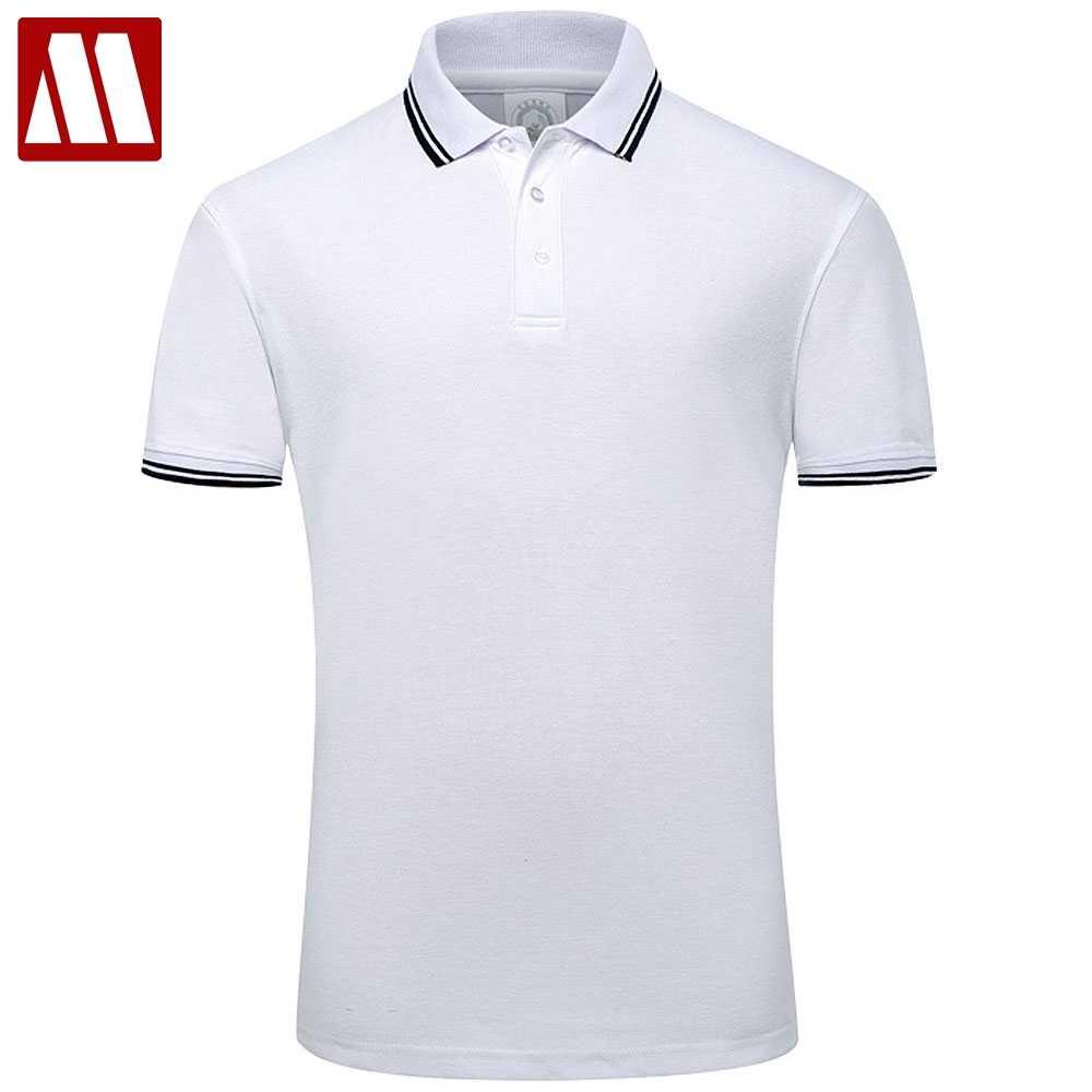 fbbd652027d6e 2019 Летний стиль хлопок мужские рубашки поло одноцветное цвет короткий  рукав тонкий дышащий известный бренд для