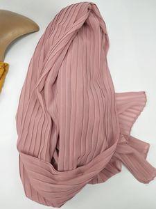 Image 5 - Bufandas de gasa con pliegues, hiyab, envolturas musulmanas, gran tamaño, 90x180cm
