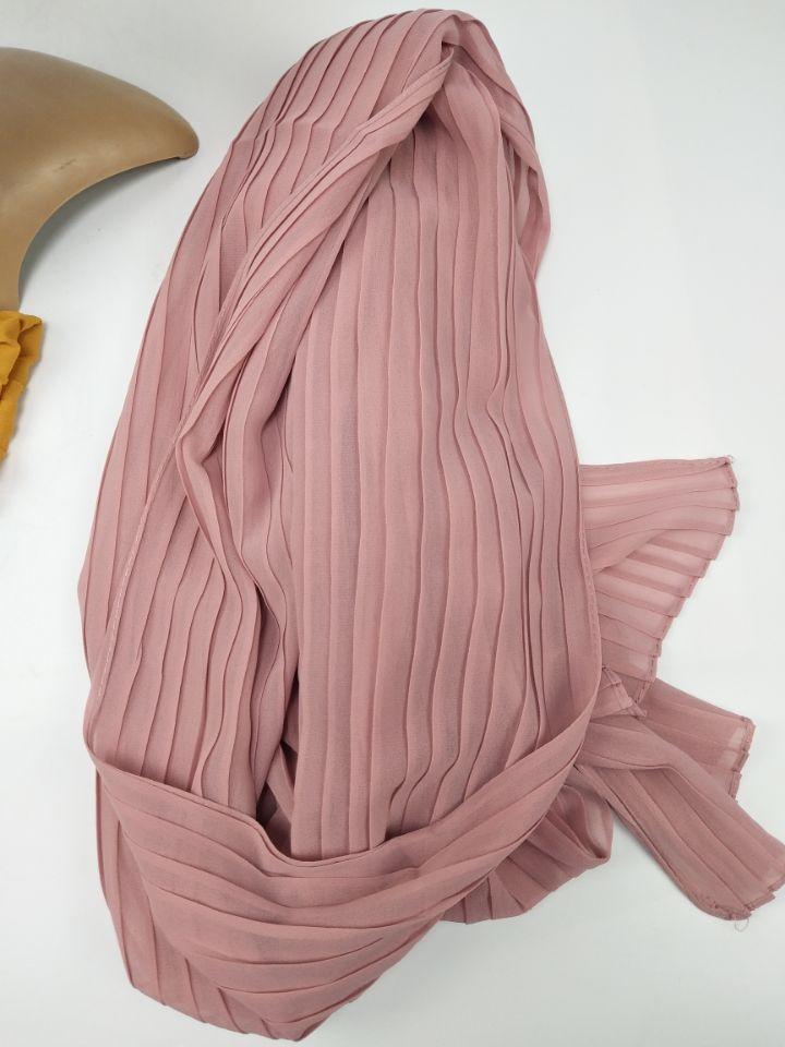 Crumple Bubble Chiffon Solid Crinkled Shawls Pleat Headband Hijab Muslim Wraps scarves scarf Big Size 90