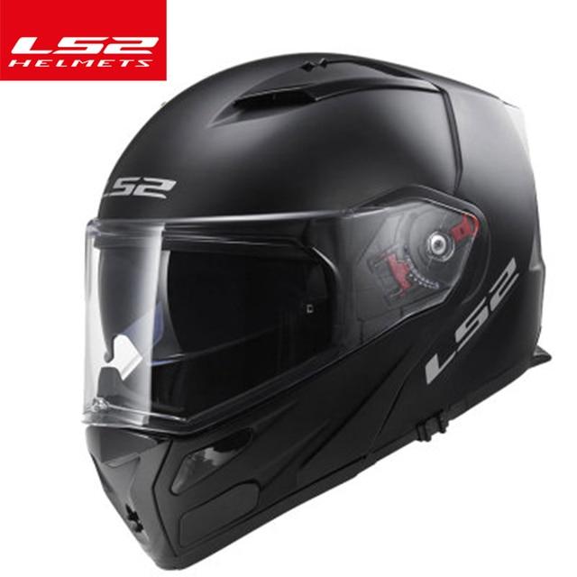 3e1be909 Original LS2 ff324 flip up motorcycle helmet multifunction full face helmet  dual lens antifog visor can add Bluetooth headset