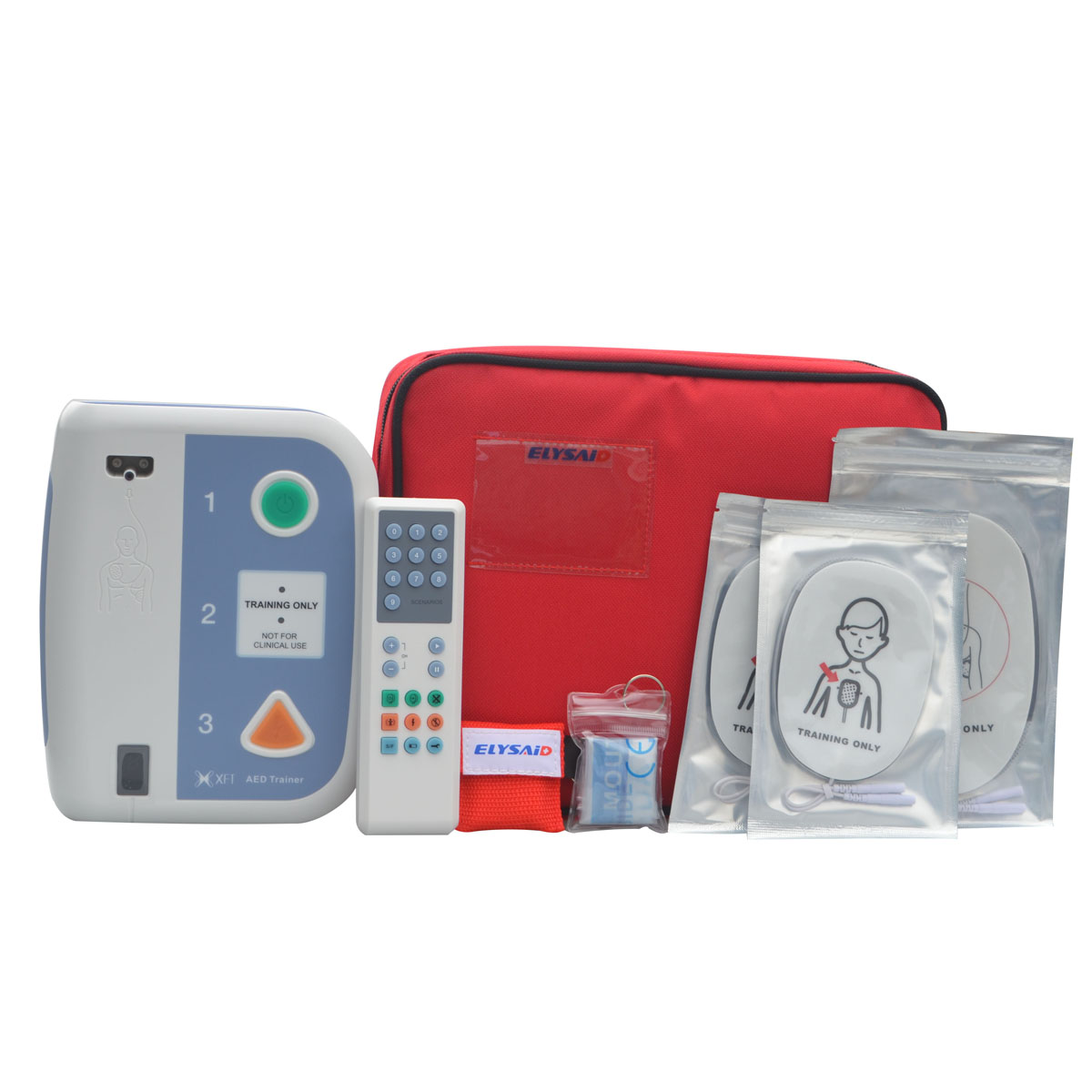 Elysaid 120C AED Trainer Automated External Defibrillator Emergency CPR Training Teaching First Aid Device 2pcs CPR