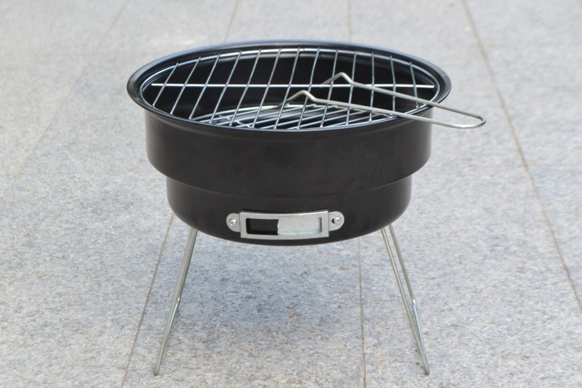 16 New Stainless steel outdoor household couple barbecue brazier charcoal portable mini bbq grill with shoulder cooler bags 2