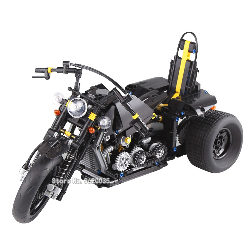 Science and technology car series Heavy duty motorcycle combination compatible legoinglys education Building Blocks model gift spell insert building blocks fire model plastic environmental protection construction science and education children s education