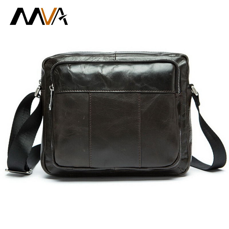 ФОТО MVA Genuine Leather Men Bag Small Shoulder Crossbody Bags Men Messenger Bags Fashion Men's Leather Bag Handbags Small Male Flap