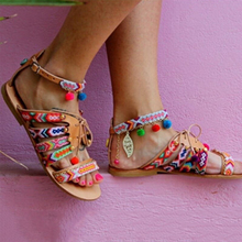 Colorful Flat Gladiator Sandals