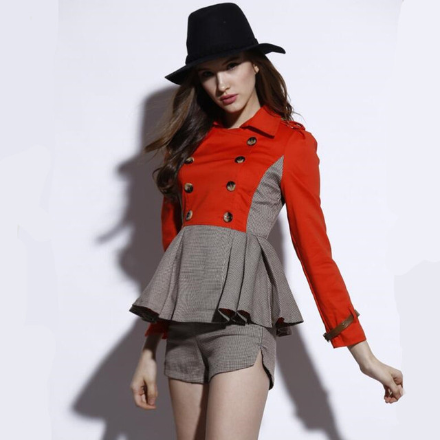 High Qualty 2 Piece Set Women Shorts and Top 2017 Autumn Long Sleeve Jacket + Shorts Two Piece Suit Survetement Femme 733128