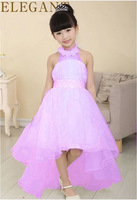 2016 New Summer Baby Girls Party Dress Evening Wear Long Tail Girls Clothes Elegant Flower Girl