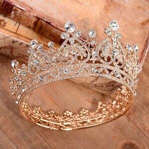 Image 2 - Contenitore di Monili principessa di Grandi Dimensioni Completo di Cerchio Strass Queen Pageant Corona di Cerimonia Nuziale Nuziale Dei Monili Dei Capelli Accessori Abito Da Sposa