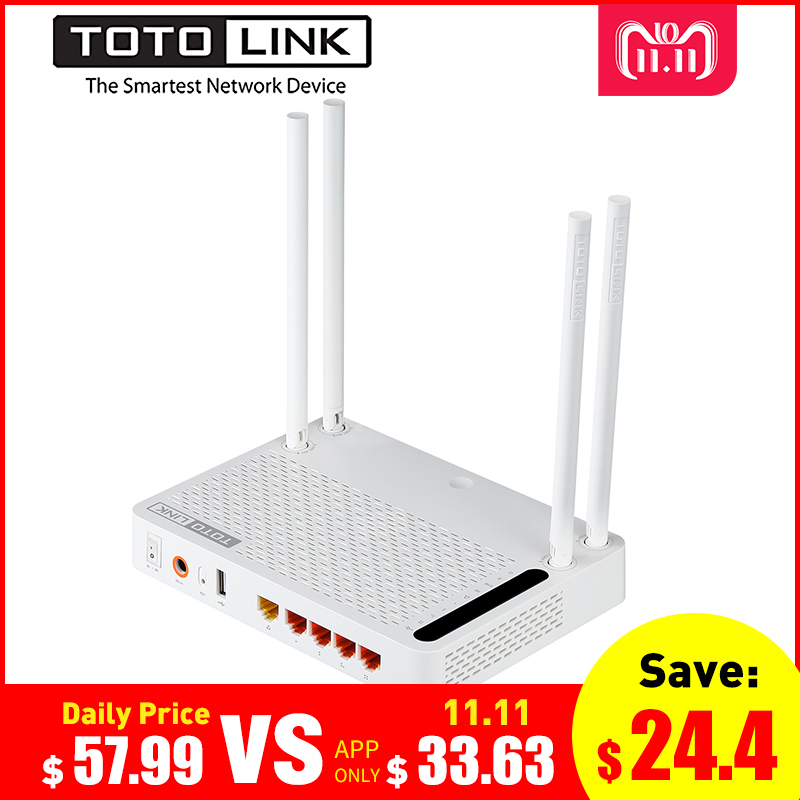 TOTOLINK A3002RU AC1200 Router Wireless Intelligente Dual Band 2.4 ghz/5.0 ghz Gigabit Router Wifi Ripetitore Wireless, firmware russo