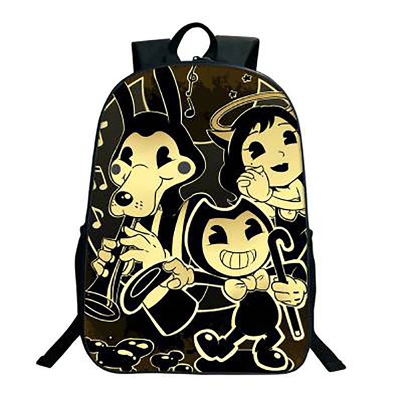 New Arrival Bendy And The Ink Machine School Backpack Students Backpack For Teens Boys Girls Bendy And Boris Kids Backpack H204